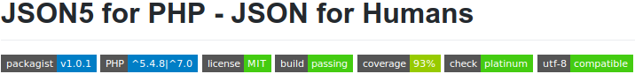JSON5 for PHP