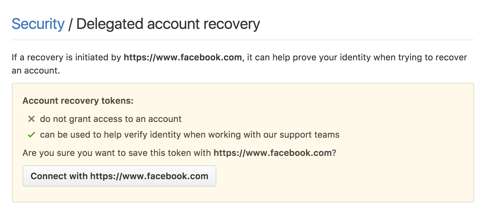 Delegated account recovery