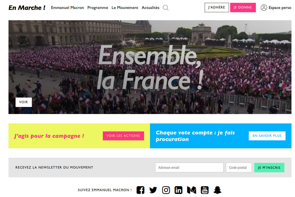 Screenshot of en-marche.fr