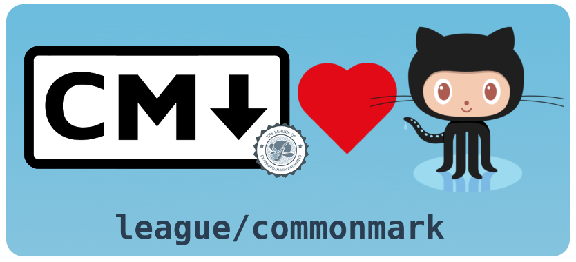 league/commonmark adds Github-Flavored Markdown support