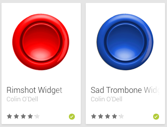Sound effect widgets for Android