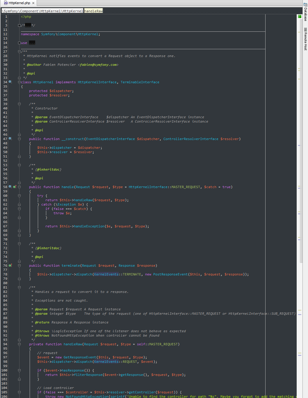 PhpStorm screenshot